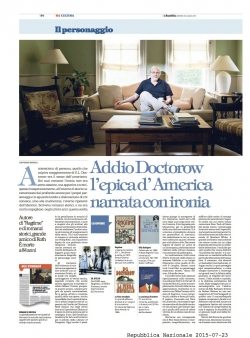 ADDIO DOCTOROW, L'EPICA D'AMERICA NARRATA CON IRONIA