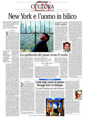 New York e l'uomo in bilico