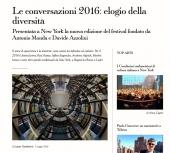 Le Conversazioni 2016: elogio della diversita'