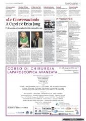 «Le Conversazioni» A Capri c'e' Erica Jong