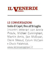 Le Conversazioni, Isola di Capri fino all'8 luglio
