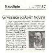 Conversazioni con Colum McCann