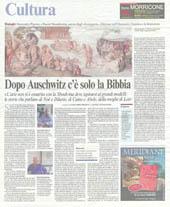 Dopo Auschwitz c'è solo la Bibbia