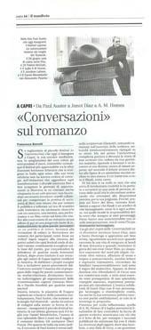"""""""Conversazioni"""" sul romanzo"""