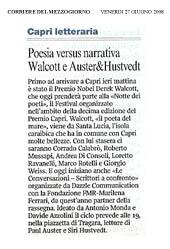 Poesia versus narrativa, Walcott e Auster&Hustvedt