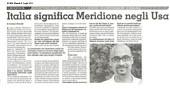 Italia significa Meridione negli USA
