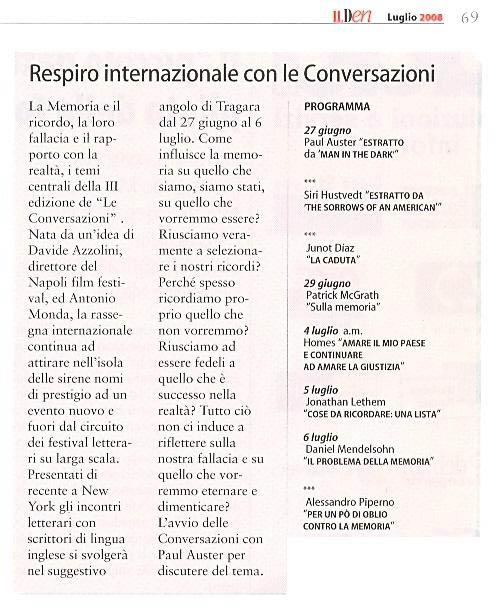Respiro internazionale con le Conversazioni