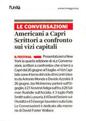 Americani a Capri. Scrittori a confronto sui vizi capitali