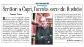 Scrittori a Capri, l'accidia secondo Rushdie