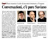 Conversazioni, c'è pure Saviano