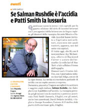 Se Salman Rushdie è l'accidia e patti Smith la lussuria