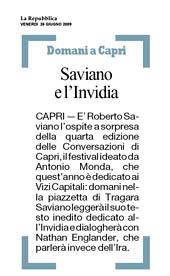 Saviano e l'Invidia