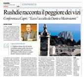 Rushdie racconta il peggiore dei vizi