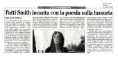 Patti smith incanta con la poesia sulla lussuria