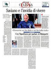 Saviano e l'invidia di vivere