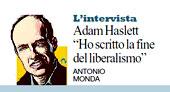 """Adam Haslett:""""Ho scritto la fine del liberalismo"""""""