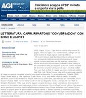 """Capri, ripartono """"Le Conversazioni! con Shine e Leavitt"""