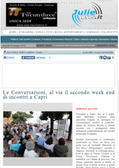 Le Conversazioni, al via il secondo week end di incontri a Capri
