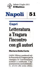 Letteratura a Tragara, l'incontro con gli autori