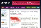 Capri: al via Le Conversazioni 2011, dal 24 giugno al 3 luglio