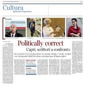 Politically Correct, scrittori a confronto