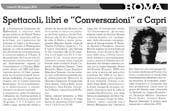 """Spettacoli, libri e """"Conversazioni"""" a Capri"""