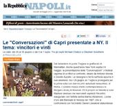 """Le """"Conversazioni"""" di Capri presentate a NY. Il tema: vincitori e vinti"""