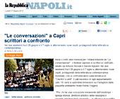 """""""Le Conversazioni"""" a Capri scrittori a confronto"""